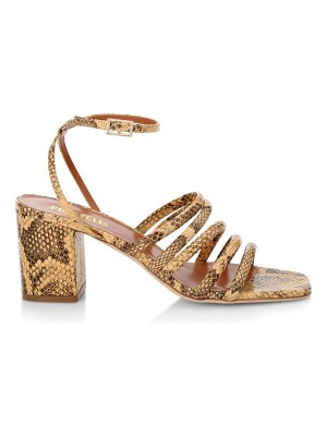 Paris Texas linda snakeskin-look leather sandals