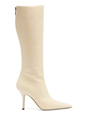 Paris Texas mama knee-high leather boots