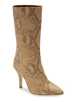 Paris Texas python embossed boot