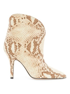 Paris Texas python-embossed leather ankle boots