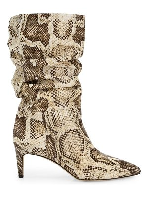 Paris Texas slouchy python-embossed leather boots