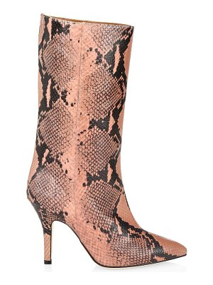 Paris Texas python-embossed leather mid-calf boots