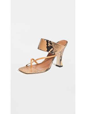 Paris Texas python print crossover thong sandals