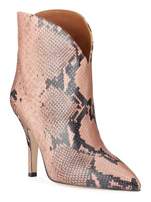 Paris Texas Python-Print Heeled Ankle Boots