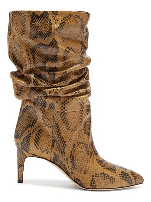 Paris Texas slouchy python-effect leather ankle boots