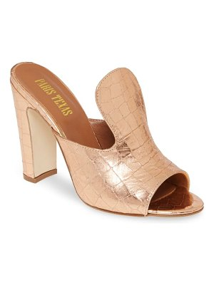Paris Texas ultra high mule slide sandal