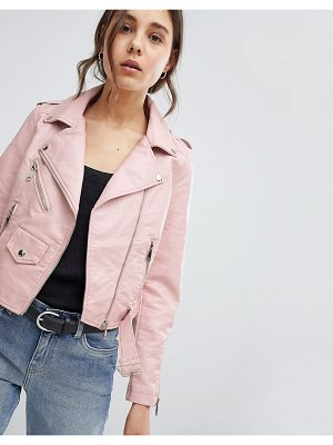 Parisian Leather Look Jacket