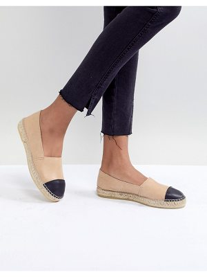 Park Lane Leather Toe Cap Espadrilles
