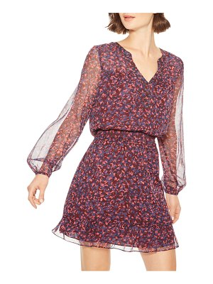 Parker Atticus Printed Button-Front Short Dress
