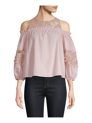 Parker auburn cold-shoulder blouse