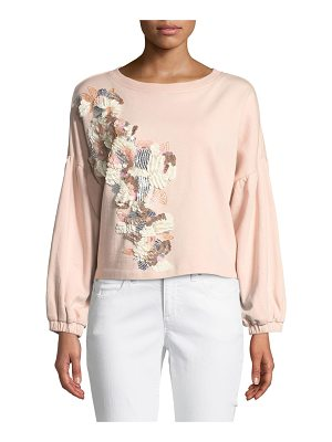 Parker Berniece Crewneck Sequined Sweatshirt