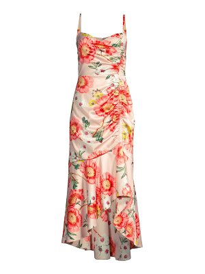 Parker Black adriana floral high-low midi dress