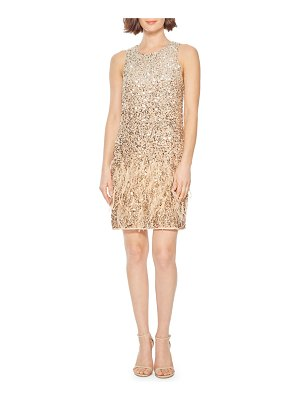 Parker Black Allegra Beaded Mini Shift Dress w/ Feathers