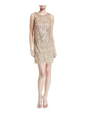 PARKER BLACK Allegra Embellished Fringe Mini Cocktail Dress