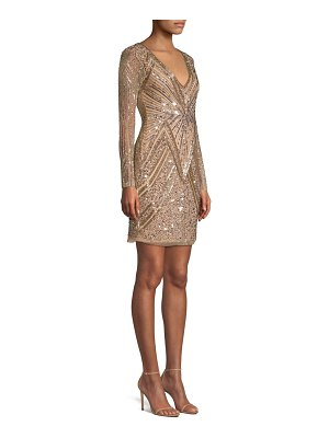 Parker Black janette sequin geometric sheath dress
