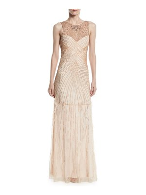 Parker Black Manuela Beaded Gown w/ Open Back