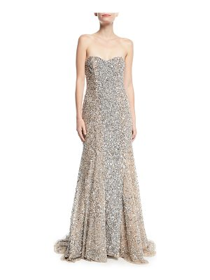 PARKER BLACK Renee Strapless Sweetheart Beaded Gown