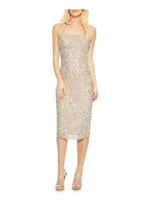 Parker Black Sage Beaded Slip Crisscross Cocktail Dress