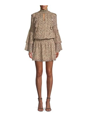 Parker eliana print blouson dress