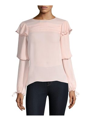PARKER Finch Long-Sleeve Solid Blouse