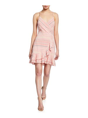 Parker Jay Striped Cotton Flounce Short Dress