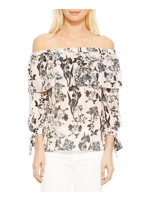 PARKER Mandy Off The Shoulder Silk Blouse