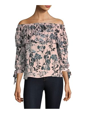 PARKER Mandy Off-The-Shoulder Silk Top
