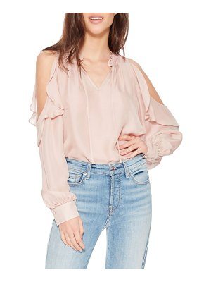 Parker marjorie silk blend cold shoulder blouse