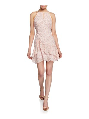 Parker Sherry Sleeveless Flounce Silk Dress