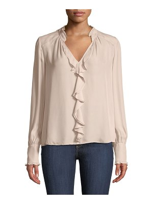 Parker Tilly V-Neck Ruffle Combo Blouse