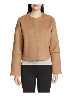 Partow marlow cashmere & camel's hair crop jacket
