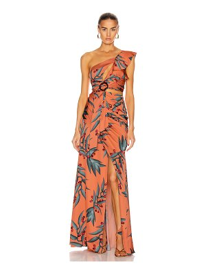 PatBO heliconia one shoulder maxi dress