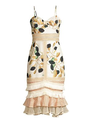 PatBO fruta printed fitted midi dress