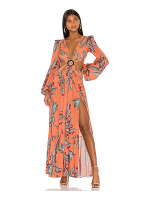 PatBO long sleeve cutout dress