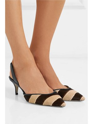 Paul Andrew rhea zebra-print calf hair slingback pumps