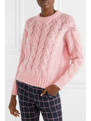 Paul & Joe cable-knit mohair-blend sweater