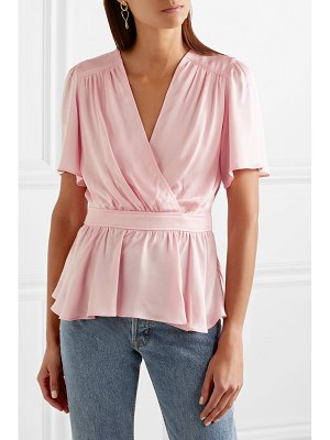 Paul & Joe wrap-effect satin top