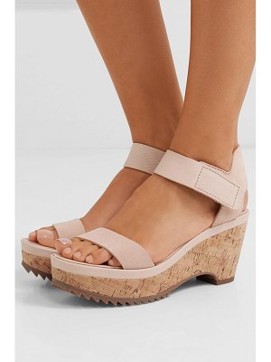 Pedro Garcia franses suede wedge sandals