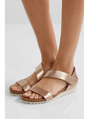 Pedro Garcia jedda metallic textured-leather sandals