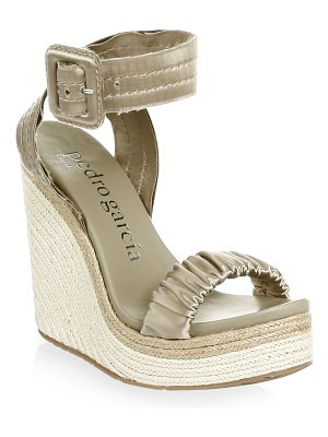 PEDRO GARCIA Ruched Wedge Sandals