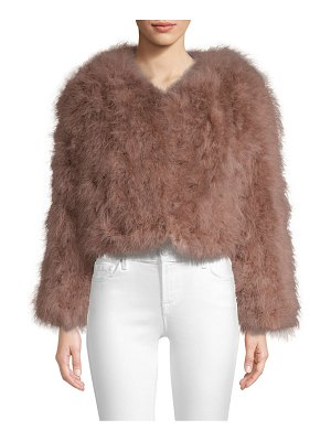 Pello Bello cropped feather jacket