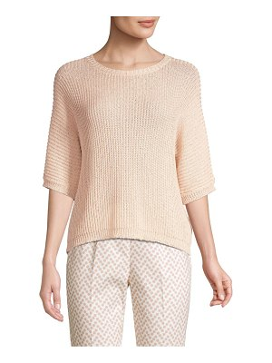 Peserico crochet cotton sweater