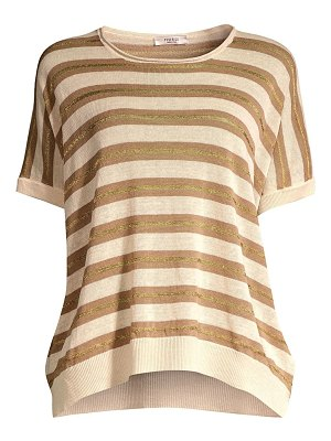 Peserico striped knit linen-blend sweater