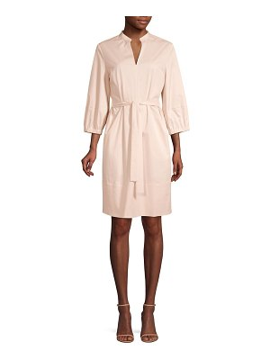 Peserico three-quarter sleeve tie-waist shirt dress