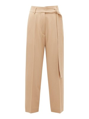 Petar Petrov hilary cropped virgin-wool twill trousers