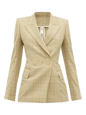 Petar Petrov joiner double-breasted checked wool jacket
