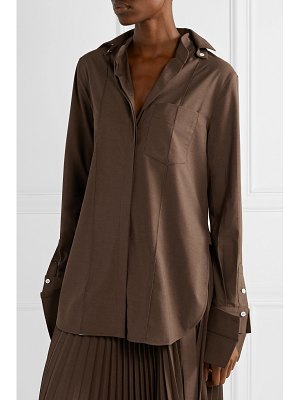 Peter Do convertible voile shirt