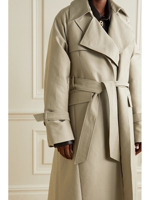 Peter Do oversized layered cotton-gabardine trench coat