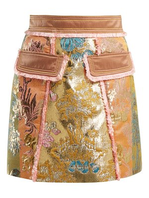 Peter Pilotto A Line Floral Brocade Mini Skirt