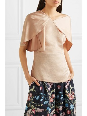 Peter Pilotto asymmetric hammered-satin top